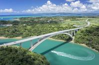 沖縄県 今帰仁村 屋我地島 ワルミ大橋