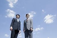 ローアングル日本人ビジネスマン