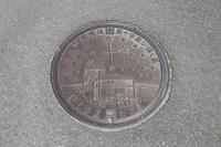沖縄県 波照間島のマンホール「南十字星が輝く島」