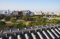 兵庫県 明石公園と明石市街地