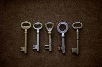 5本並んだ鍵