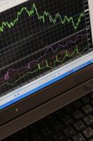 株価とノートパソコン