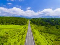 岡山県 蒜山高原の道
