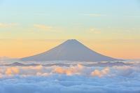 山梨県 国師ヶ岳より 朝焼けの富士山と雲海