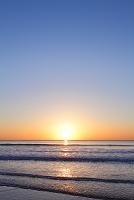 北海道 海辺の日の出