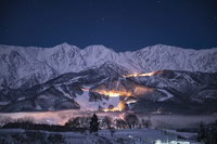 長野県 白馬村、冬の夜
