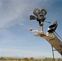 映画のクレーンカメラ