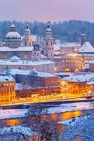 オーストリア ザルツブルク 雪景色