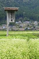 京都府 美山町 かやぶき民家群と案内看板