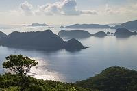 沖縄県 座間味島 安護の浦と慶良間諸島の朝