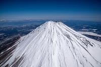 静岡県 富士山と宝永山(高度3,500m)