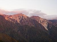 長野県 八方尾根より白馬連峰 鑓ヶ岳と杓子岳