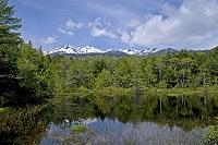 長野県 松本市 牛留池と乗鞍岳