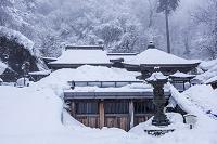 山形県 雪の立石寺 奥の院と大仏殿