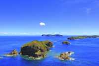 東京都 小笠原諸島 母島 小富士から望む南崎と島々