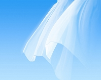 揺れる白いカーテン