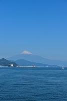 静岡県 遊覧船より清水港と富士山
