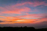 長野県 美ヶ原から北アルプス夕景