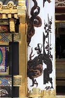 栃木県 日光東照宮 唐門の昇竜の彫刻