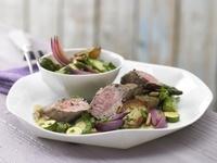 ラムのヒレ肉と焼き野菜