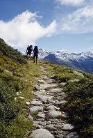 スイス 登山をする