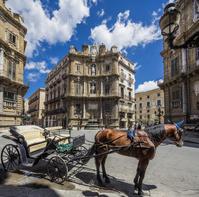 イタリア パレルモ 馬車