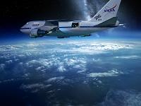 地球の上空を飛ぶ飛行機