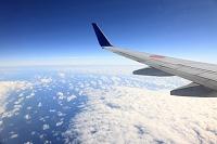 太平洋上空 翼と雲海