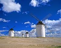 スペイン カンポ・デ・クリプターナ 風車