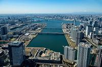 東京都 アーバンドック ららぽーと豊洲と東京港より富士山