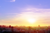 東京 ビル群の夕景