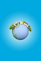 太陽光発電の家と地球