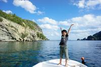 東京都 小笠原 ボートに乗った男の子