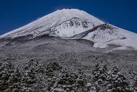 冠雪の富士山宝永火口