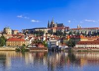 チェコ プラハ 街並みとプラハ城