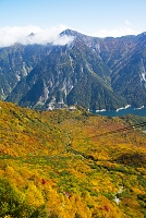 大観峰から見る後立山連峰