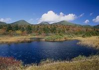 秋の八甲田山と睡蓮沼