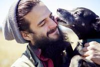 ペットと男性
