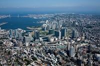 神奈川県 横浜駅、みなとみらい地区周辺より横浜港