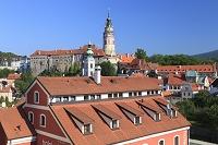 チェコ チェスキークルムロフ チェスキークルムロフ城と城の塔