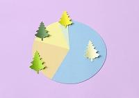 樹木の円グラフ