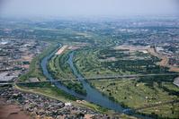埼玉県 荒川と入間川の分岐地より上流