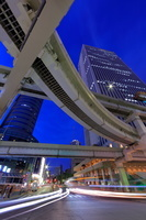 東京都 サンシャイン60と首都高速の夜景