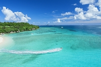 沖縄県 瀬底島とアンチ浜と伊江島