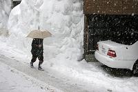 冬の十日町市 豪雪の様子 新潟県 十日町市