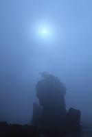 岩手県宮古市 山王岩と日食