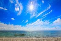 沖縄県 夏の石垣島 白保の浜