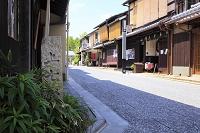 京都府 上七軒 花街の町並み