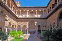 スペイン セビリア アルカサル 乙女の中庭