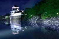 富山県 富山城の夜景